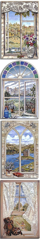 Окна. Картинки для декупажа