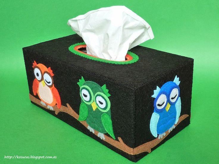 Fundas para cajas de pañuelos de fieltro.