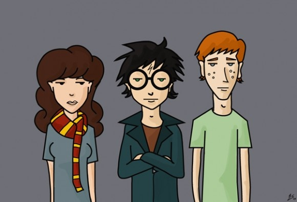 Daria meets Harry Potter  @Kelly Rose I suppose this is only awesome if you like Harry Potter, which I am unsure of your feelings on that, but it made me think of you, so here it is.