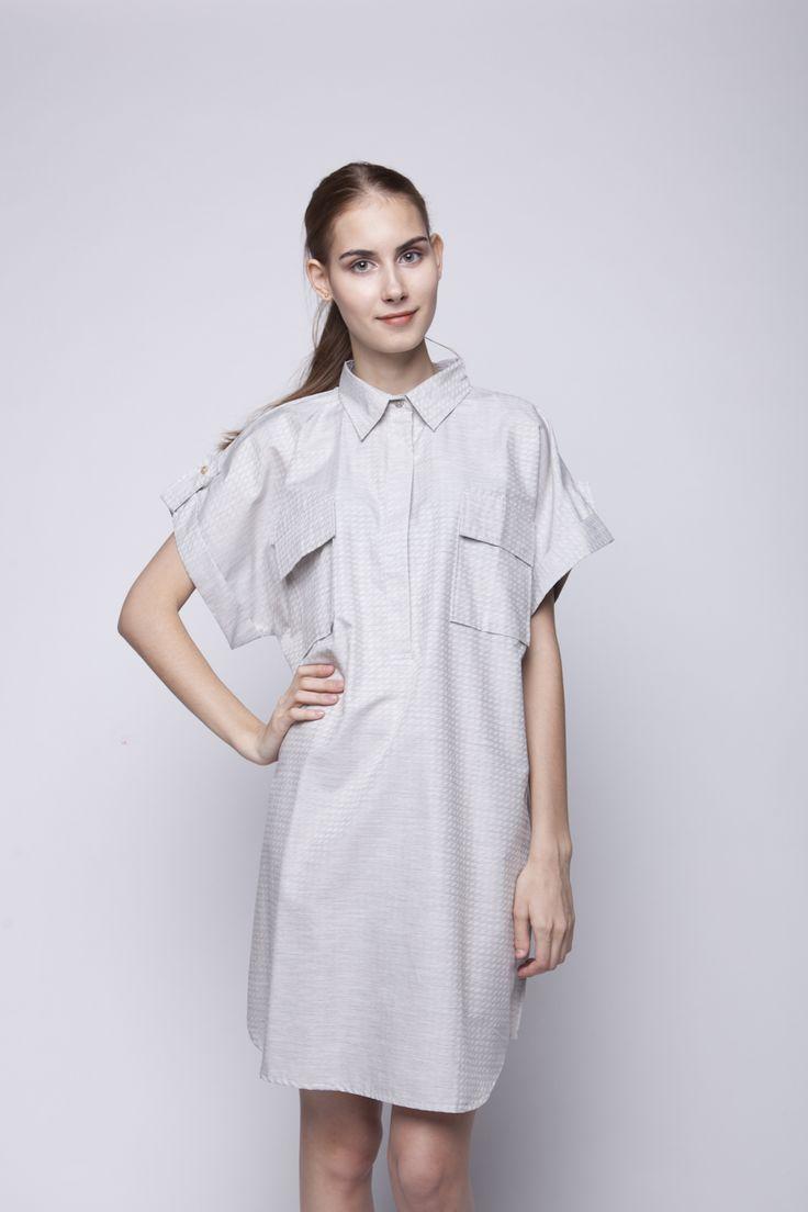 Kifa Shirt Dress Grey   Rp 206.250