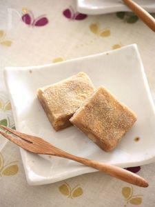 おから×米粉♪黒糖くるみ餅