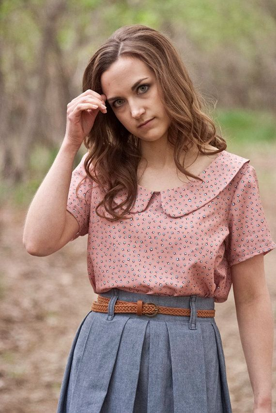 Peter Pan Collar Shirt-Color Options