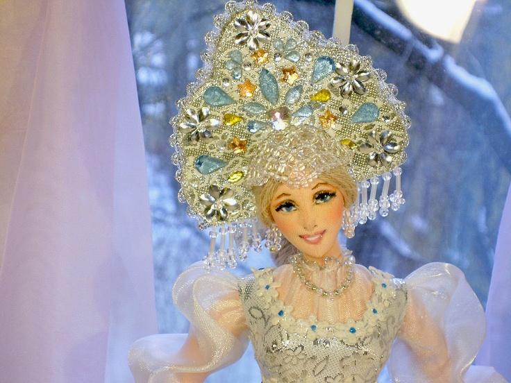Коллекционные куклы ручной работы. Ярмарка Мастеров - ручная работа Кукла Снегурочка. Handmade.