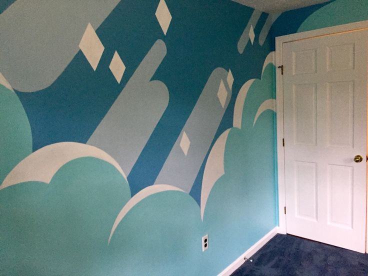 """motorchop: """"tealdragon: """" MY STEVEN UNIVERSE INSPIRED WALL IS DONE Holy crap I spent all summer on this, lot of hard work but it more than paid off """" I WANT THIS IN MY HOME """""""
