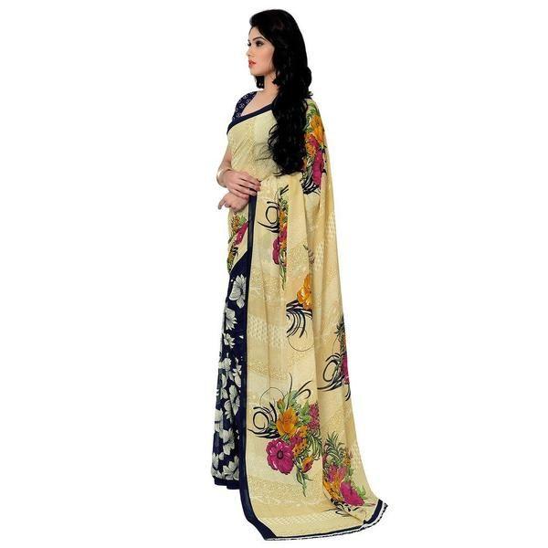 LadyIndia.com # Formal Sarees, Designer Sarees Women's Georgette Saree Yellow Colored Sari, Printed Sarees, Casual Sarees, Formal Sarees, Office Wear, Sarees, https://ladyindia.com/collections/ethnic-wear/products/designer-sarees-womens-georgette-saree-yellow-colored-sari