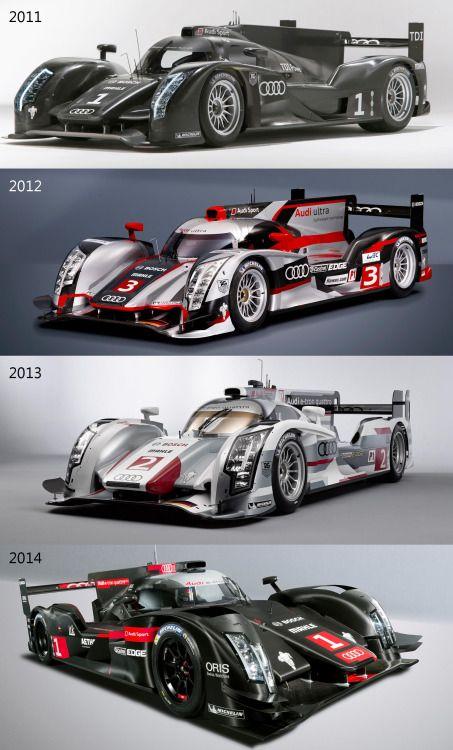 Evolution of a beast. Audi R-18 2011-2014.