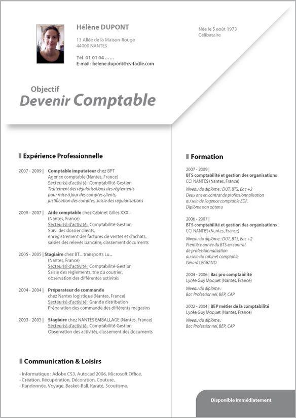 Modele Cv De Comptable Cv Anonyme En 2021 Modele Cv Secretaire Comptable Comptable