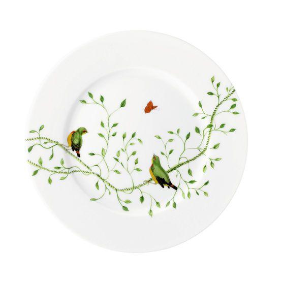 """""""Histoire Naturelle"""" Dessertteller, grüne Vögel"""