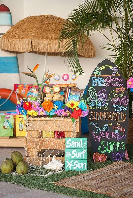 beach surf birthday party ideas