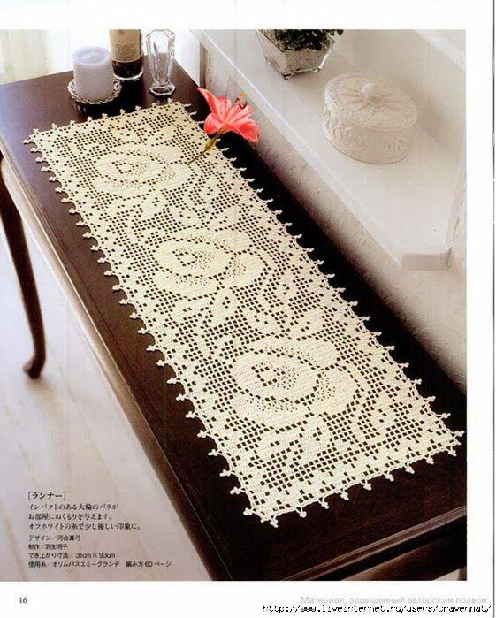 Вязание крючком: корейка-ткани розы