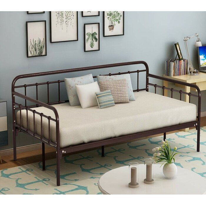 Weir Metal Twin Daybed In 2020 Living Room Guests Metal Daybed Twin Bed Frame #twin #bed #for #living #room