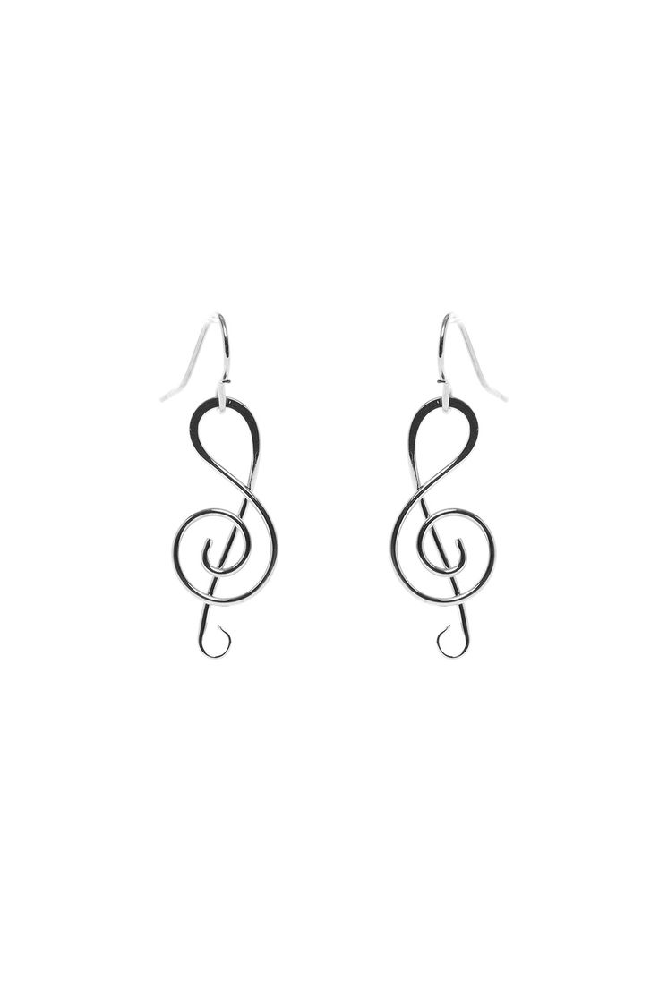 Mark Steel Music Note Earring from Cambridge by Esmeralda — Shoptiques