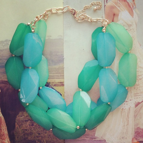 Mint and turquoise