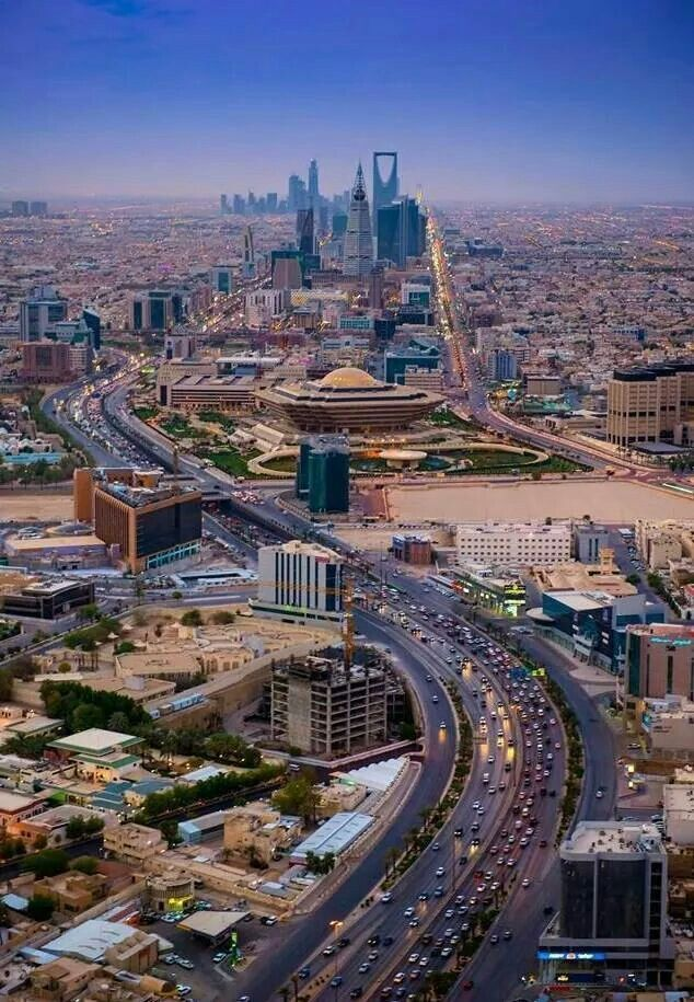This is Riyadh Saudi Arabia recently has had a large influx in foreign travelers exploring the countries historical sites, palaces and excess wealth.  Image source: Pinterest