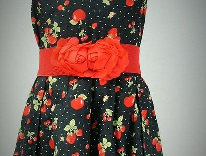 SWEET STRAWBERRY DRESS BY VANESSA LYNNE