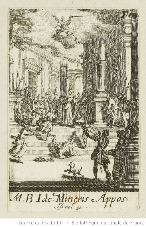 [Les petits apôtres]. [7], [Martyre de saint Jacques le Mineur] : [estampe] / [Jacques Callot] - 1