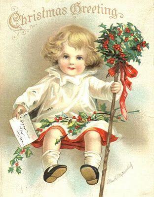 Vintage Ellen Clapsaddle Christmas Postcard
