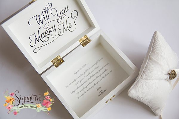 Wedding Proposal Ring Box