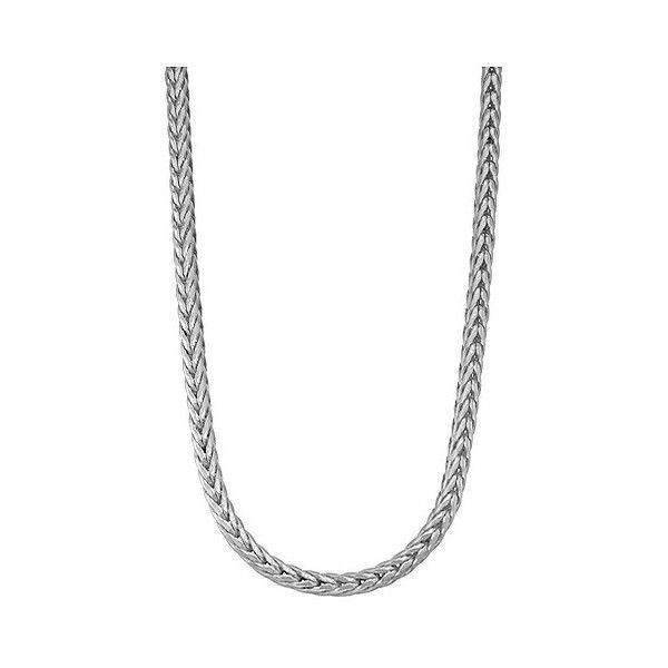 Tiara Sterling Silver  Thick Men's Foxtail Chain Necklace, Size:... ($140) ❤ liked on Polyvore featuring men's fashion, men's jewelry, men's necklaces, white, mens white gold chain necklace, mens sterling silver necklace, mens white gold necklace, mens chains and mens sterling silver chains