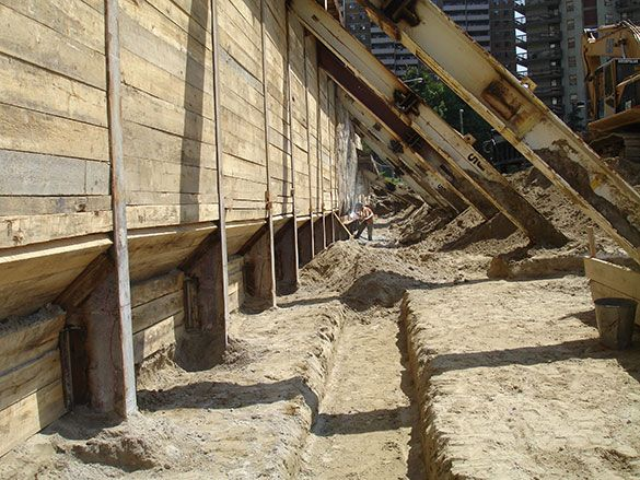 34 best images about soldier pile lagging shoring on for Wood piling foundation