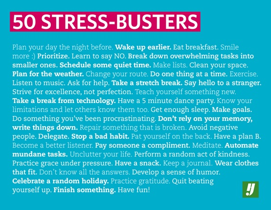 50 Stress Busters