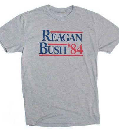 Rowdy Gentleman Reagan Bush '84 Vintage Tee