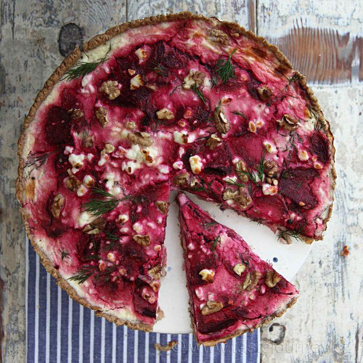 Červená řepa, feta sýr a fenykl- dokonalá kombinace pro tart