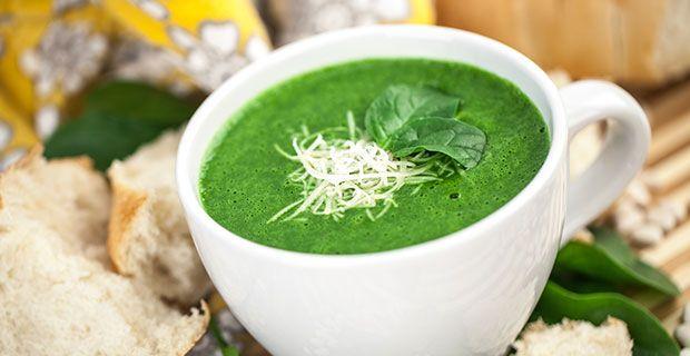 Velvety Spinach Blender Soup Recipe