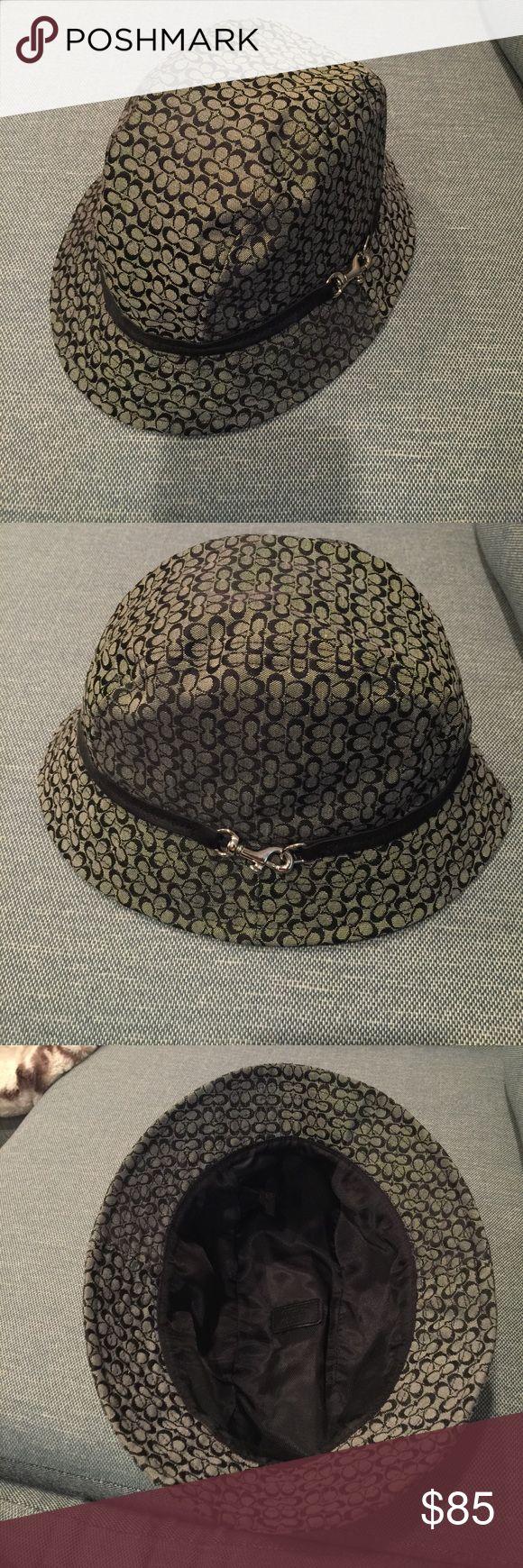 Coach hat Black coach hat with logo c all over it size M/L Coach Accessories Hats