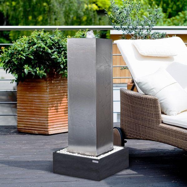 edelstahl brunnen wasserspiele f r garten terrasse brunnen pinterest wasserspiele brunnen. Black Bedroom Furniture Sets. Home Design Ideas