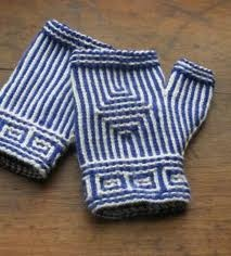 twined-knit fingerless gloves class with Janine Kosel (co-author of Swedish Handknits and Norwegian Handknits), starts Feb 25, 2013