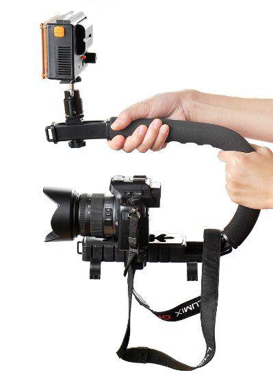 Viltrox Niveleur pour caméras et appareils photo/ support avec enregistreur/ stabilisateur pour prendre des photos et des vidéos au niveau du sol ou de l'horizon, Mod. C-DV-01