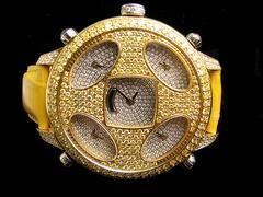 PARIS HILTON CANARY YELLOW SOLID GOLD 18K WATCH