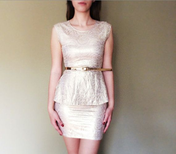Gold color mini dress by pookadesign on Etsy #gold #dress #etsy #mini dress