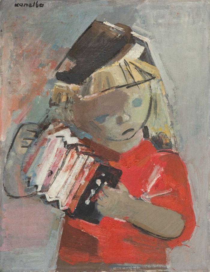 Rajmund Kanelba (Kanelbaum) - Dziewczynka z harmonią