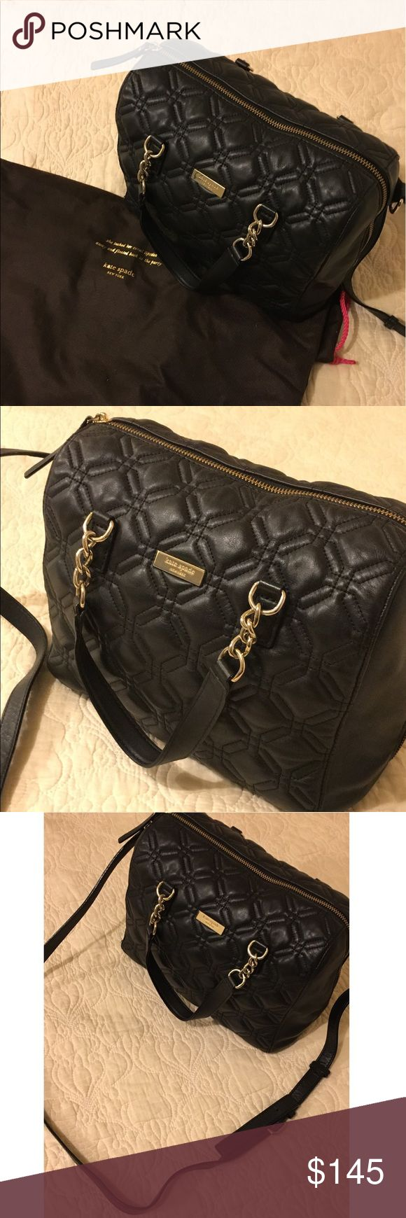 Kate Spade 🔥 Handbag Kate Spade Quilted Black Leather Handbag SALE!!! In great condition. With dust bag :) kate spade Bags