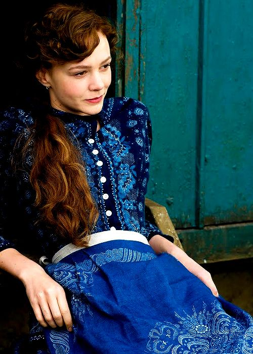 Carey Mulligan in Far From the Madding Crowd.  Nice dress! (nice picture of Miss Mulligan as well... :)