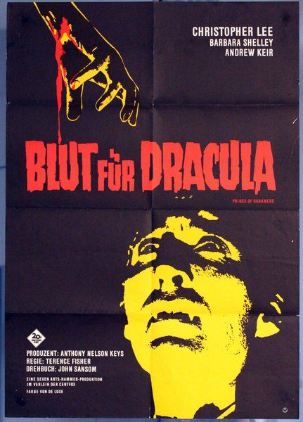 German Poster for 'Dracula: Prince of Darkness'
