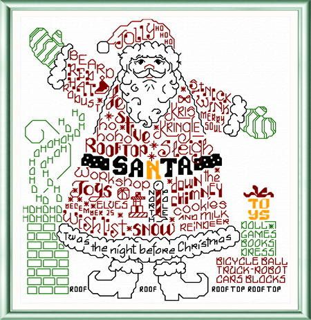 Lets Find Santa cross stitch pattern designed by Ursula Michael.