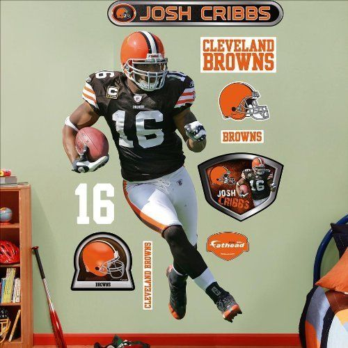 Cleveland Browns Josh Cribbs Fathead Wall Graphic by FATHEAD. Cleveland Browns Josh Cribbs Fathead Wall Graphic.