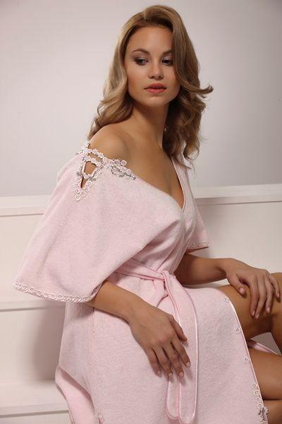 Luxusní dámský župan z bambusového vlákna a bavlny HAYAL.Kombinace 40% česané egyptské bavlny a 60% bambusového vlákna.