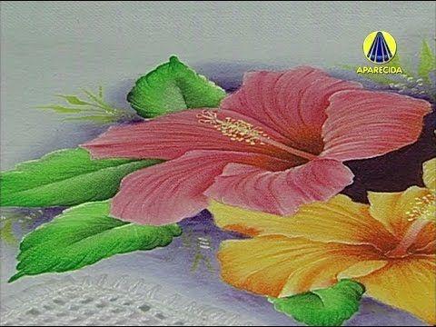 Mulher.com 11/07/2014 - Pintura hibisco- YouTube