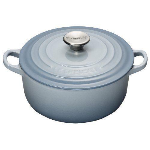 Le Creuset 20 cm Cast Iron Round Casserole, Coastal Blue  #LeCreusetUKLtd