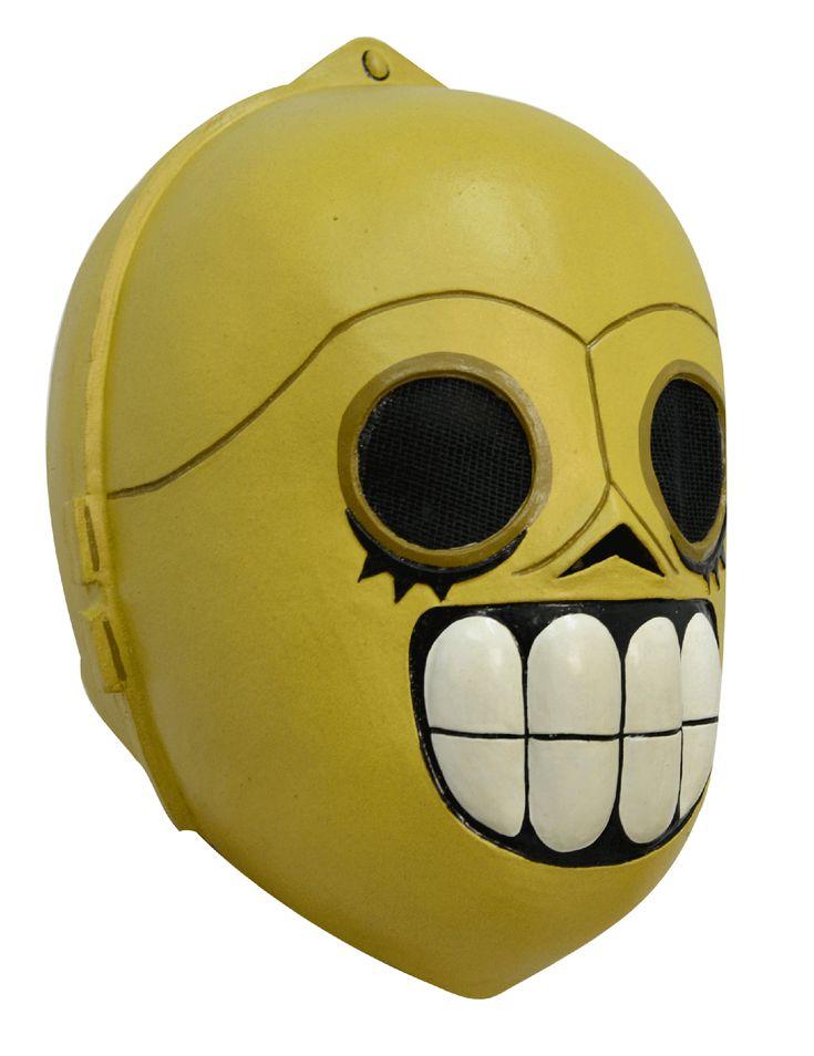 Maschera Droide Dia de los muertos adulti Halloween: Questa maschera integrale è inlattice e dipinta a mano.Impossibile non riconoscere il droide a cui si ispira questa maschera che aggiunge lo stileDia de los muertosal famoso... #halloween #maschere #halloweenmaschere