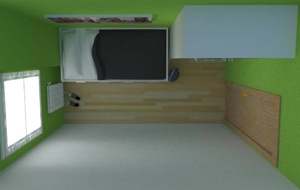 Compacto contenedores armario 3 puertas pared verde mueble for Mueble juvenil diseno