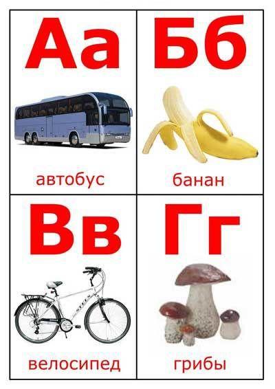 Карточки с буквами русского алфавита | МАМА И МАЛЫШ