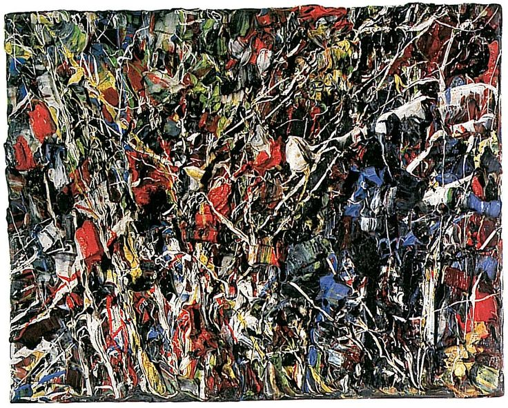 Jean Paul Riopelle (1923 - 2002), a Quebec painter who spent much of his career in France