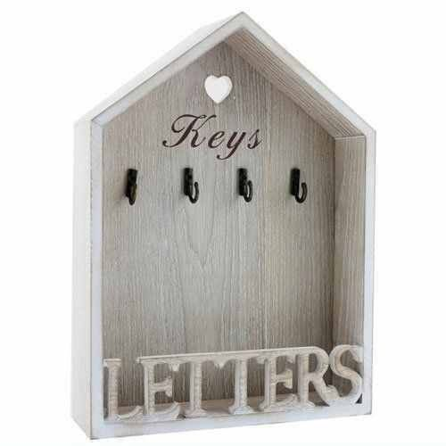Vintage Letter Rack & Key Holder Hooks - Natural. Visit us now and ENJOY 10% OFF + FREE SHIPPING on all orders