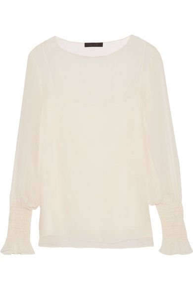 The Row - Laver Crinkled Silk-chiffon Blouse - Neutral - small
