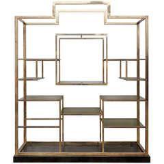 geometric shelving display